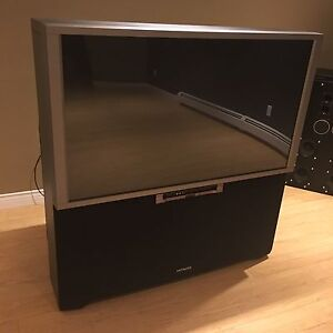 """REDUCED!!! HITACHI 51"""" rear-projection TV  $100"""