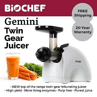 BioChef Gemini Twin Gear Cold Press Juicer Best for Leafy