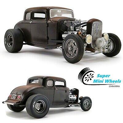 ACME 1:18 Porkchop's Chop Shop 1932 Ford 190 Proof (Matte black with brown roof)