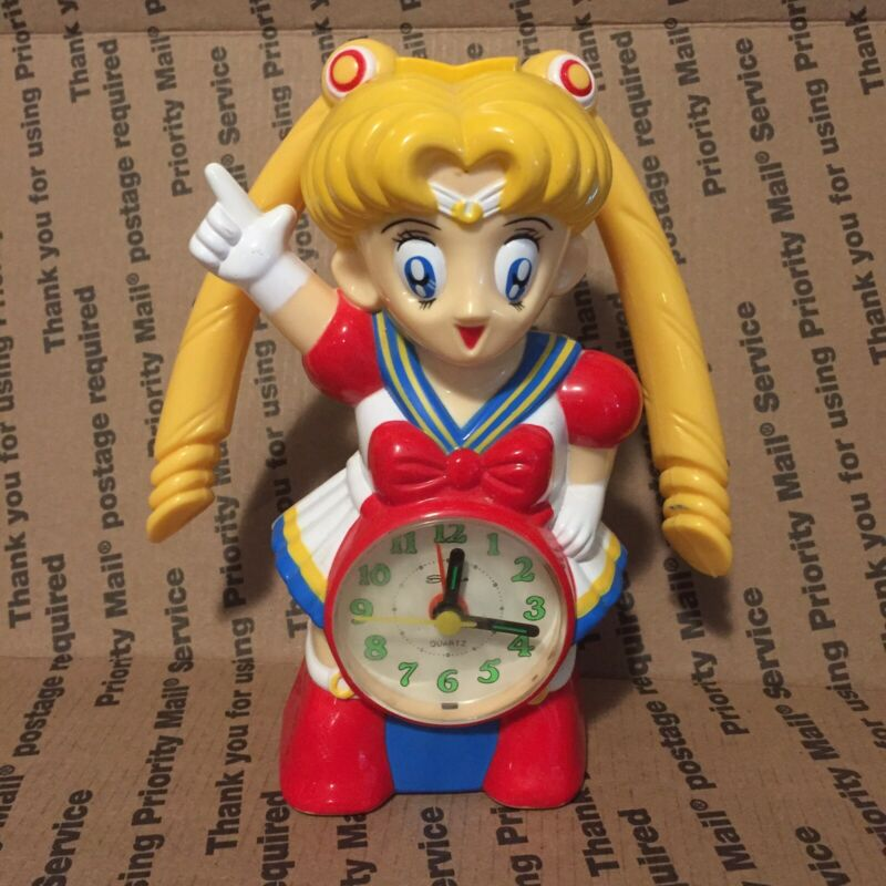 Vintage Unofficial Super Sailor Moon Alarm Clock - Plays Tune, Works!