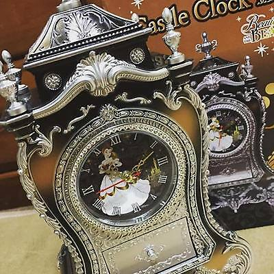 Disney Beauty and the Beast Princess Castle Clock New Version From Japan - Clock From Beauty And The Beast