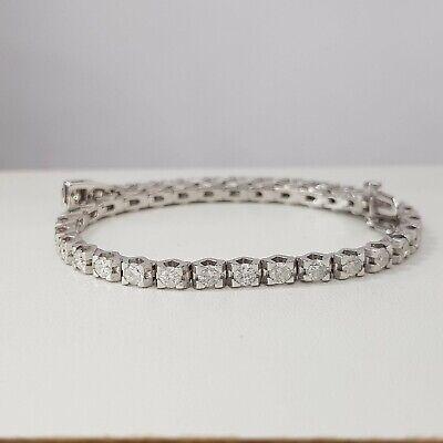 3.50 Carat Diamond Tennis Bracelet 14K White Gold E VS2-SI1 STEAL