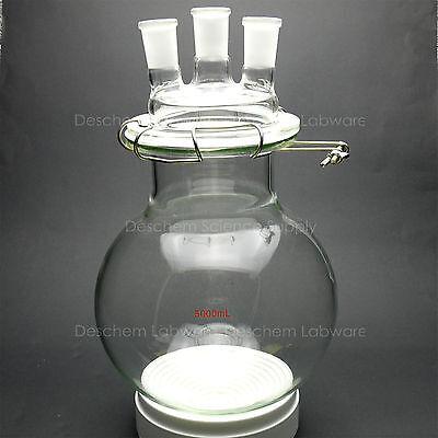 5000mlglass Reaction Vessel5l24403-neckslab Round Bottom Chemistry Reactor