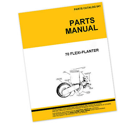 Parts Manual For John Deere 70 Flexi-planter Drill Catalog Seed Grain Pictures