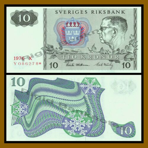 Sweden 10 Kronor, 1976 P-52 Replacement * Star Unc