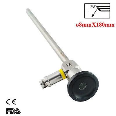 70 Rigid Laryngoscope Endoscope 8mmx180mm Fit Storz Stryker Olympus Wolf
