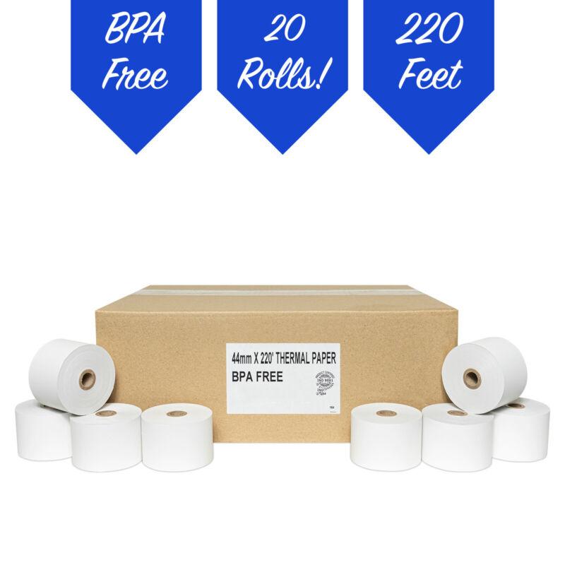20 ROLLS SHARP XE-A401 XE-A406 XE-A415 XE-A425 44mm THERMAL CASH REGISTER PAPER