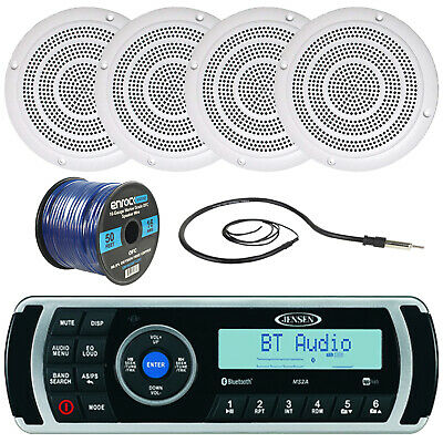 Jensen USBマリンBluetoothラジオ、アンテナ、5