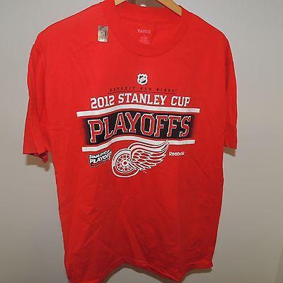 NHL Reebok Detroit Red Wings Hockey Shirt New Mens - Nhl Red Wings