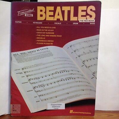 Beatles The Red Book Transcribed Scores - Hal Leonard Publishing