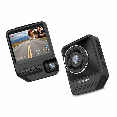 """Dual Dash Cam for Cars 1080P Front and Rear Inside Cameras AWESAFE 2.31"""""""