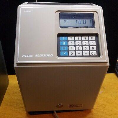 Amano Mjr7000 Time Clock