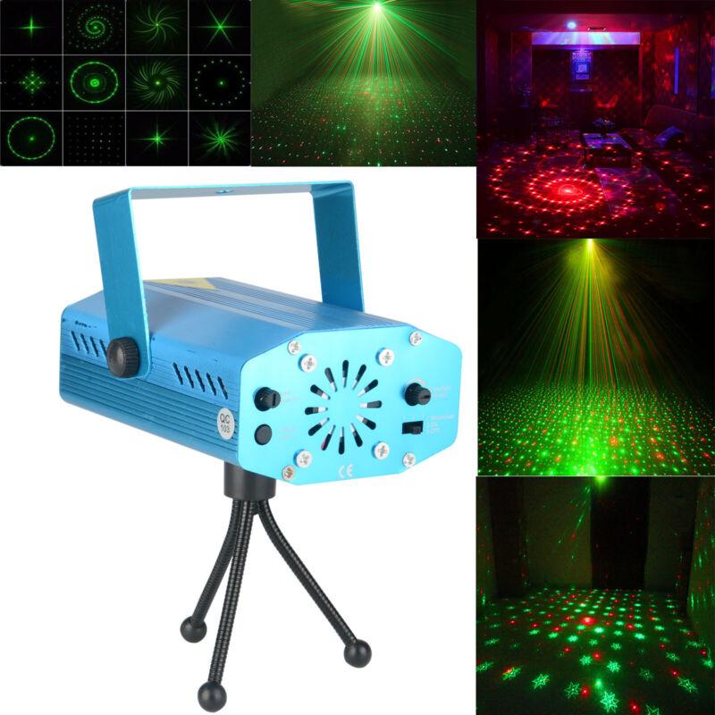 60 Muster RGB Laser Bühnenbeleuchtung DJ Projektor Disco LED Lichteffekt Lampen