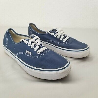 Vans Skateboard Shoes Blue Canvas TCL6 Mens Size 8
