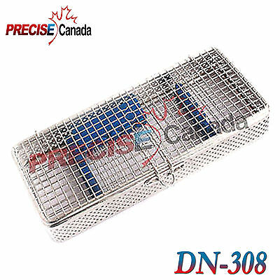 Pack Of 2 Sterilization Cassette Stainless Steel Mesh Tray Dental Instruments