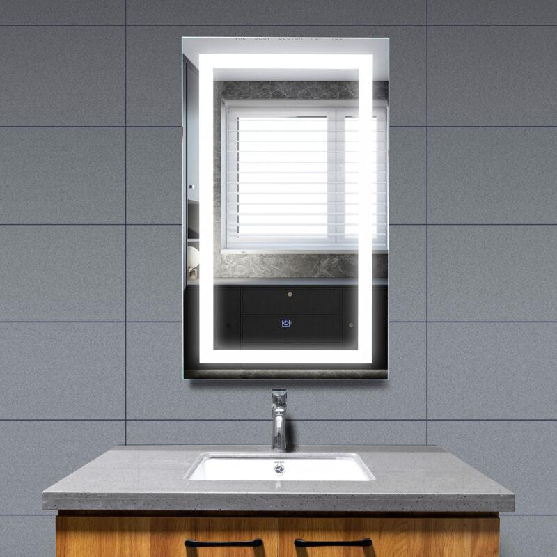 "40""x24"" LED Light Bathroom Wall Mount Illuminated Mirror Touch Button Vanity"