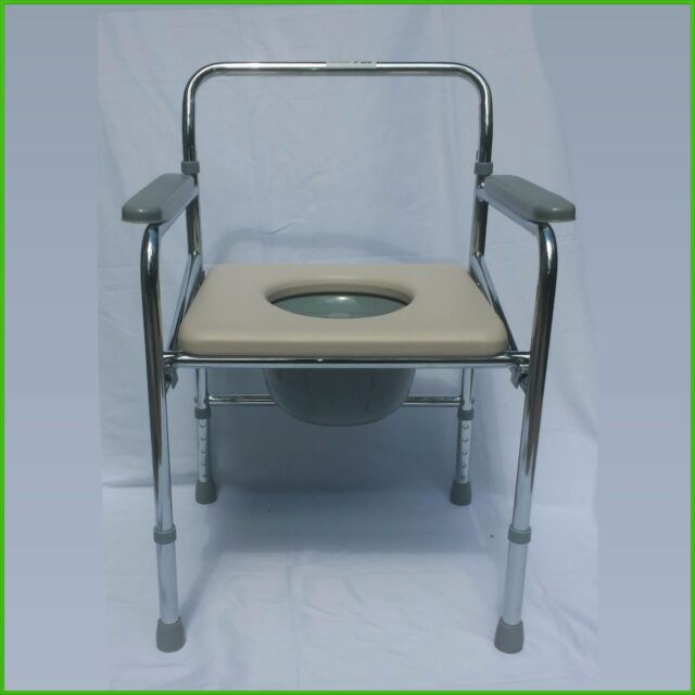Foldable Commode Chair Very Strong 300 Pounds Capacity | eBay