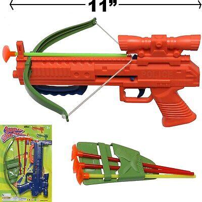 SOFT DART GUN CROSSBOW TOY SET CROSS BOW 4 ARROW - BEST FUN FOR