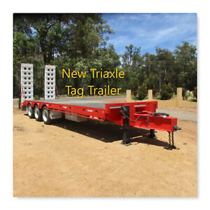 TAG TRAILER (NEW)TRIAXLE WITH RAMPS Pickering Brook Kalamunda Area Preview