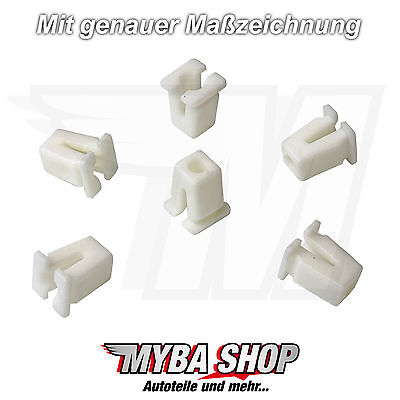20x Universal Fangled Nut Clip Universel Clips Body in White New