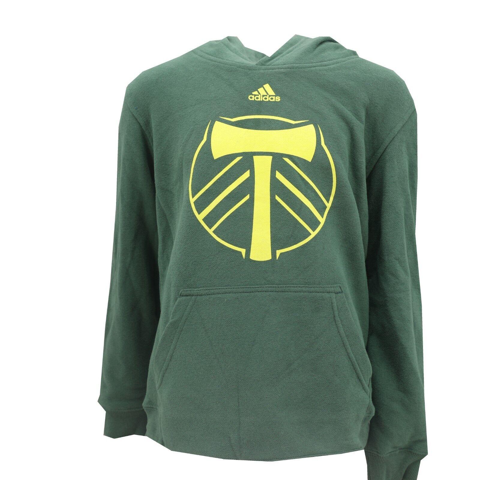 X-Large MLS Portland Timbers Youth Boys Full Zip Hoodie Green//Grey 18
