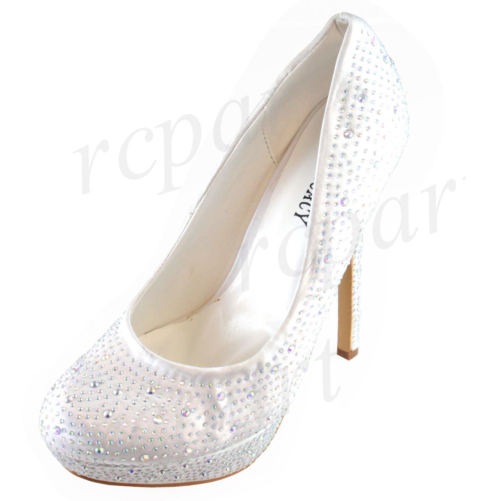 New women's shoes stilettos pumps rhinestones evening weddin