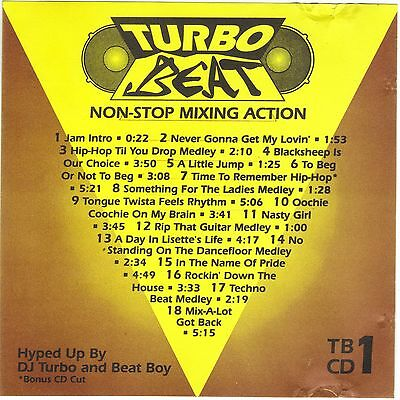 Turbo Beat Cd 1 Non Stop Mixing Action   Dj Only Remix Service  Very Rare