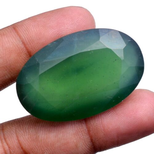117 Cts Natural Serpentine Untreated Huge Size Oval Faceted Cut Loose Gemstone