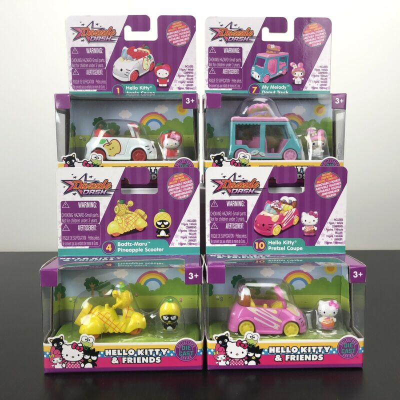 Dazzle Dash Hello Kitty & Friends DieCast (4 collections) - Brand New Sealed