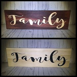Wooden Family signs. North Lakes Pine Rivers Area Preview