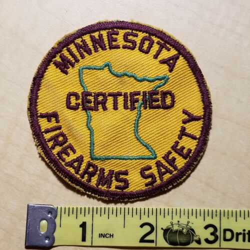 Patch, Minnesota Certified Firearms Safety, New Old Stock (NOS)