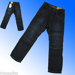 BNWT Boys Dark Blue Denim Galvanise Branded Jeans Age 7-12 Years