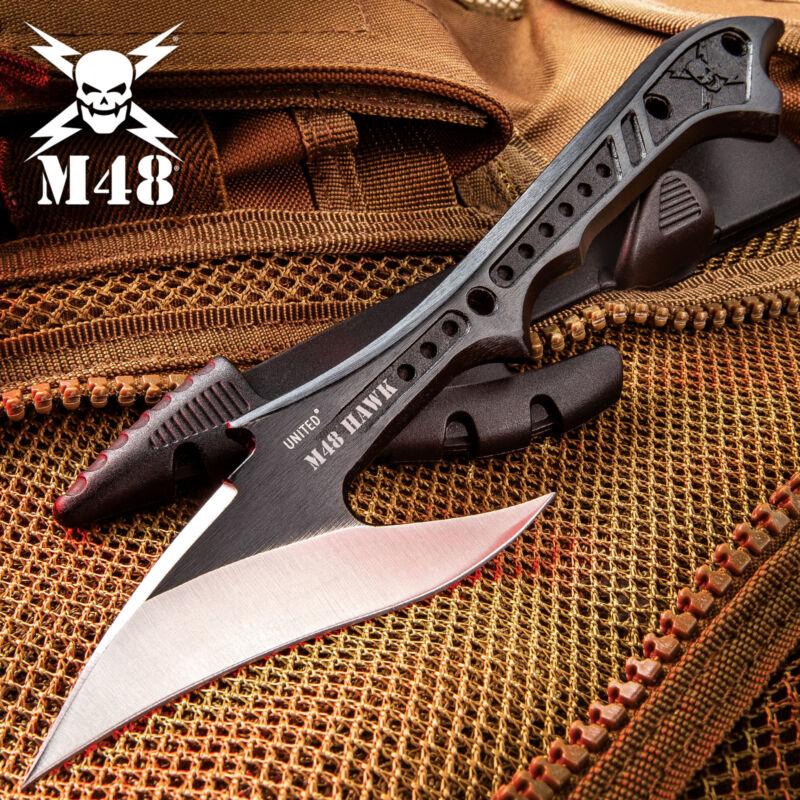 M48 TACTICAL HARPOON Fixed Blade Knife Hunting Spear Fishing Throwing w/ SHEATH