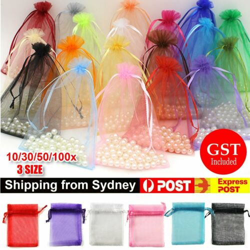 Jewellery - 10-100Pcs 3 Size Organza Bag Sheer Bags Jewellery Wedding Candy Packaging Gift