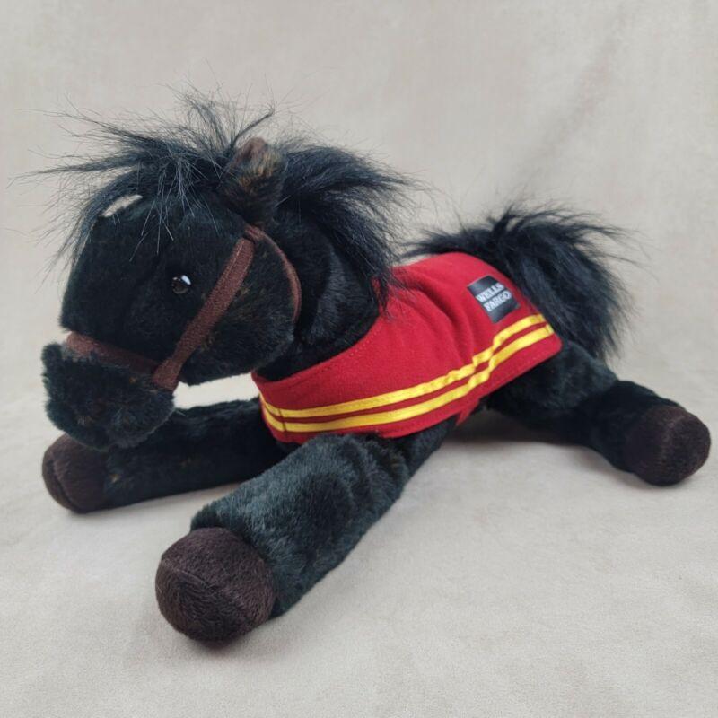 "WELLS FARGO Legendary Pony ""Mike"" 2016 Black Horse Plush Stuffed Animal Toy"