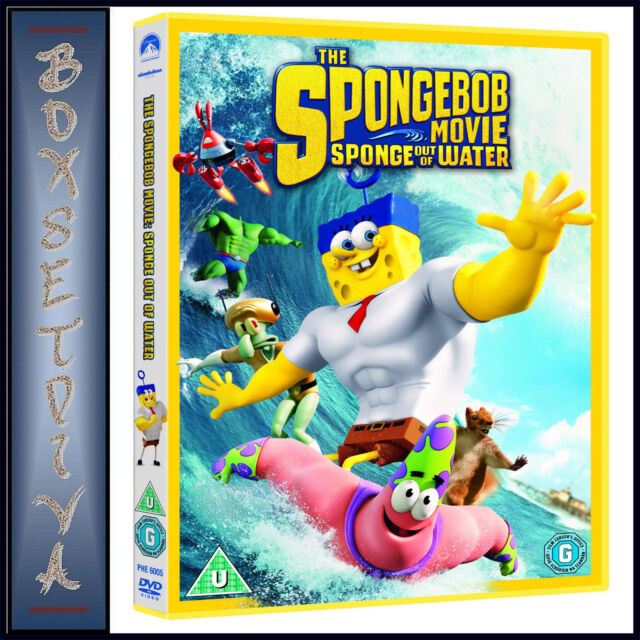 THE SPONGEBOB MOVIE: SPONGE OUT OF WATER **BRAND NEW DVD**