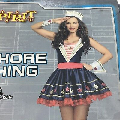 Sailor Girl Dress Adult Large Shore Thing Halloween Costume Pinup Fandom Cosplay (Spirit Halloween Sailor Costume)