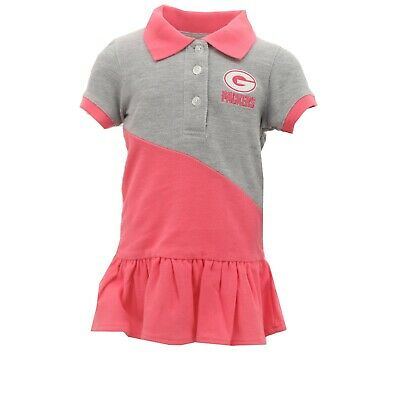 - Green Bay Packers NFL Infant Toddler Girls Pink Polo Cheerleader Dress Outfit