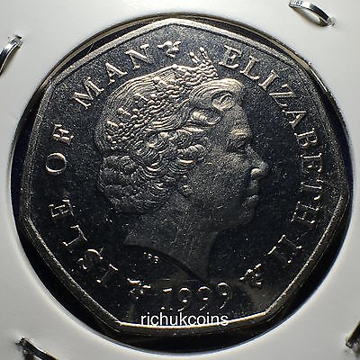 1999 T.T. Commemorative 50p Coin Obverse (left made in 1990s & right made in 2010s)