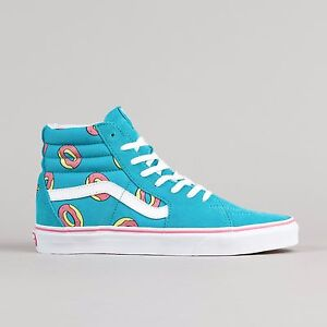 NEW Vans x Odd Future OF Donut Sk8-Hi  Scuba Blue Pink White Supreme Shoes sz 9