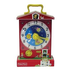Fisher Price Music Box Teaching Clock Teach The Time Classic Toy clock NEW