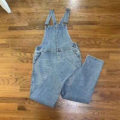 Vintage Overalls & Jumpsuits Gap Bib Overalls Medium Indigo Blue Denim Jeans Women's Size Large M EUC $29.95 AT vintagedancer.com