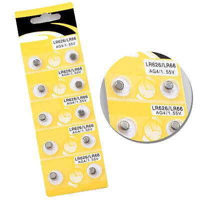 10x 1,55V Volt Knopfzellen Uhren Uhr batterie AG4 377A LR626 LR66 Alkaline GUT