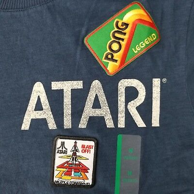 Atari Men's Med T-Shirt Pong Legend Licensed Video Game Merch Junkfood Junk Food