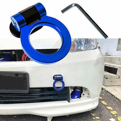 Blue Track Sport Racing Style Tow Hook Ring Set Decor For Bumper Universal Fit segunda mano  Embacar hacia Argentina