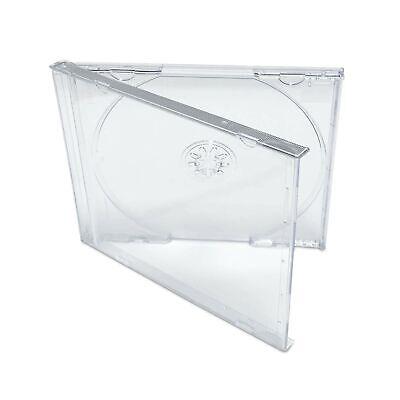 KEYIN Standard Clear CD Jewel Case - Premium, 50 Pack