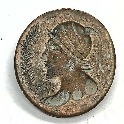 Copper Intaglio Bead Signet Pendant Chinese Roman or Asian Antiquity Artifact