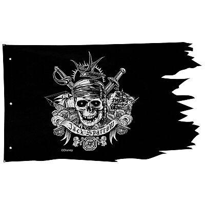 "Pirates of The Caribbean Pirate Flag Wall Decoration Decor Disney 28""H x 46""W"