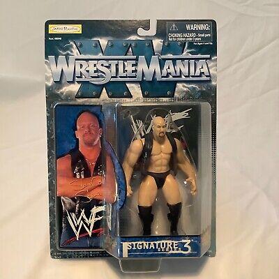 WWF Stone Cold Steve Austin Wrestle mania XV Signature Series 3 Figure WWE 1998