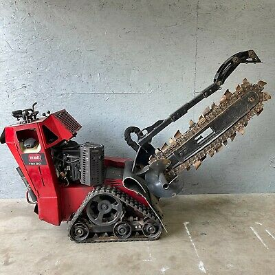 2016 Toro Trx-20 Walk Behind 36 Trencher W Tracks 20hp Kawasaki Self Propelle